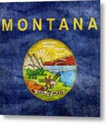 Vintage Montana Flag Metal Print