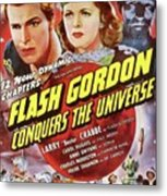 Vintage Movie Posters, Flash Godon Conquers The Universe Metal Print