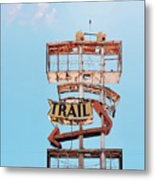 Vintage Neon Sign - The Spanish Trail - Tucson, Arizona Metal Print