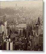 Vintage New York City Panorama Metal Print