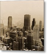 Vintage New York City Skyline Photograph - 1935 Metal Print
