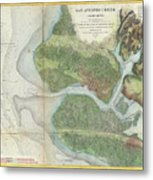 Vintage oakland and san antonio creek map 1857 drawing by vintage oakland and san antonio creek map 1857 metal print publicscrutiny Image collections