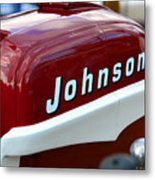 Vintage Johnson Outboard Red  Metal Print