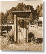 Vintage Outhouse  Metal Print