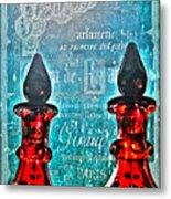 Vintage Paris Perfume Metal Print