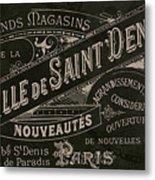 Vintage Paris Sign Metal Print