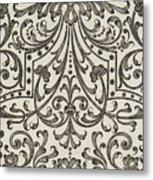 Vintage Parterre Design Metal Print