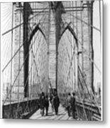 Vintage Photo Brooklyn Bridge Metal Print