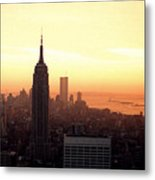 Vintage Photo Of View From The Rca Building In Nyc Metal Print