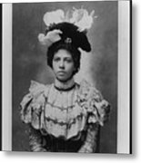 Vintage Photo Of Young Pretty Colored Lady Metal Print