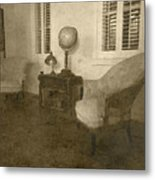 Vintage Photograph Farmhouse Interior Metal Print