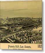 Vintage Pictorial Map Of Altoona Pa   Metal Print