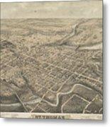 Vintage Pictorial Map Of St. Thomas Ontario - 1875  Metal Print