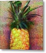 Vintage Pineapple Metal Print