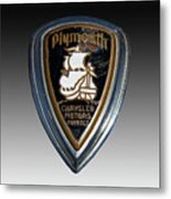 Vintage Plymouth Car Emblem Metal Print