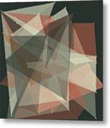 Vintage Polygon Pattern Metal Print