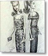 Vintage Ponytail Barbie Metal Print