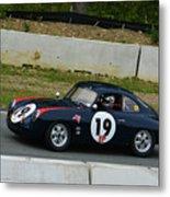 Vintage Porsche 19 Climbing Hill Metal Print
