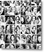 Vintage Portrait Photos Depict Womens Hairstyles Of The 1930s  - Doc Braham - All Rights Reserved. Metal Print