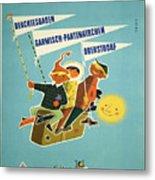 Vintage Poster - Bavarian Alps Metal Print