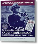 Vintage Poster - Be A Ship's Officer Metal Print
