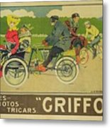 Vintage Poster Bicycle Advertisement Metal Print