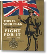 Vintage Poster - This Is Your Flag Metal Print