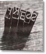 Vintage Press Industry Blocks Metal Print