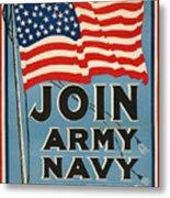 Vintage Recruitment Poster Metal Print