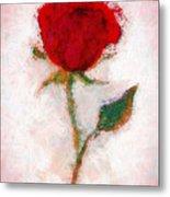 Vintage Red Rose  Metal Print