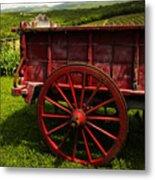 Vintage Red Wagon 2 Metal Print