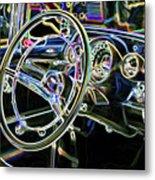 Vintage Retro Car Interior Metal Print
