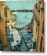 Vintage Riomaggiore Cinque Terre Italy Metal Print