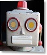 Vintage Robot 1 Dt Metal Print