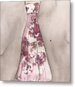Vintage Romance Dress Metal Print by Lauren Maurer