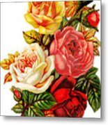 Vintage Rose I Metal Print