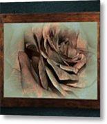 Vintage Rose On Old Wall 2 By Kaye Menner Metal Print