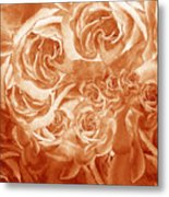 Vintage Rose Petals Abstract  Metal Print