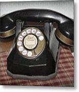 Vintage Rotary Phone Metal Print