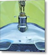 Collectible Vintage Rover Hood Ornament Metal Print
