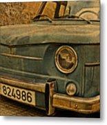 Vintage Rusty Renault Truck Metal Print