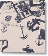 Vintage Sailing Art Metal Print