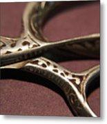 Vintage Scissors  Metal Print