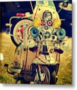 Vintage Scooter Metal Print
