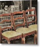Vintage Seating Metal Print