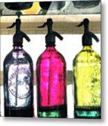Vintage Seltzer Bottles 2 Metal Print