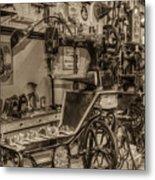Vintage Sewing Metal Print