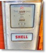 Vintage Shell Gas Pump Metal Print
