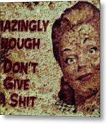 Vintage Sign 2e Metal Print