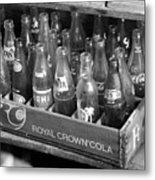 Vintage Soda Case  Metal Print